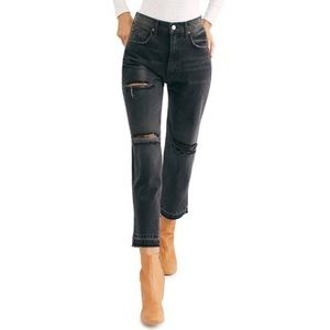 NEW! FREE PEOPLE Lita High Rise Distressed Jeans